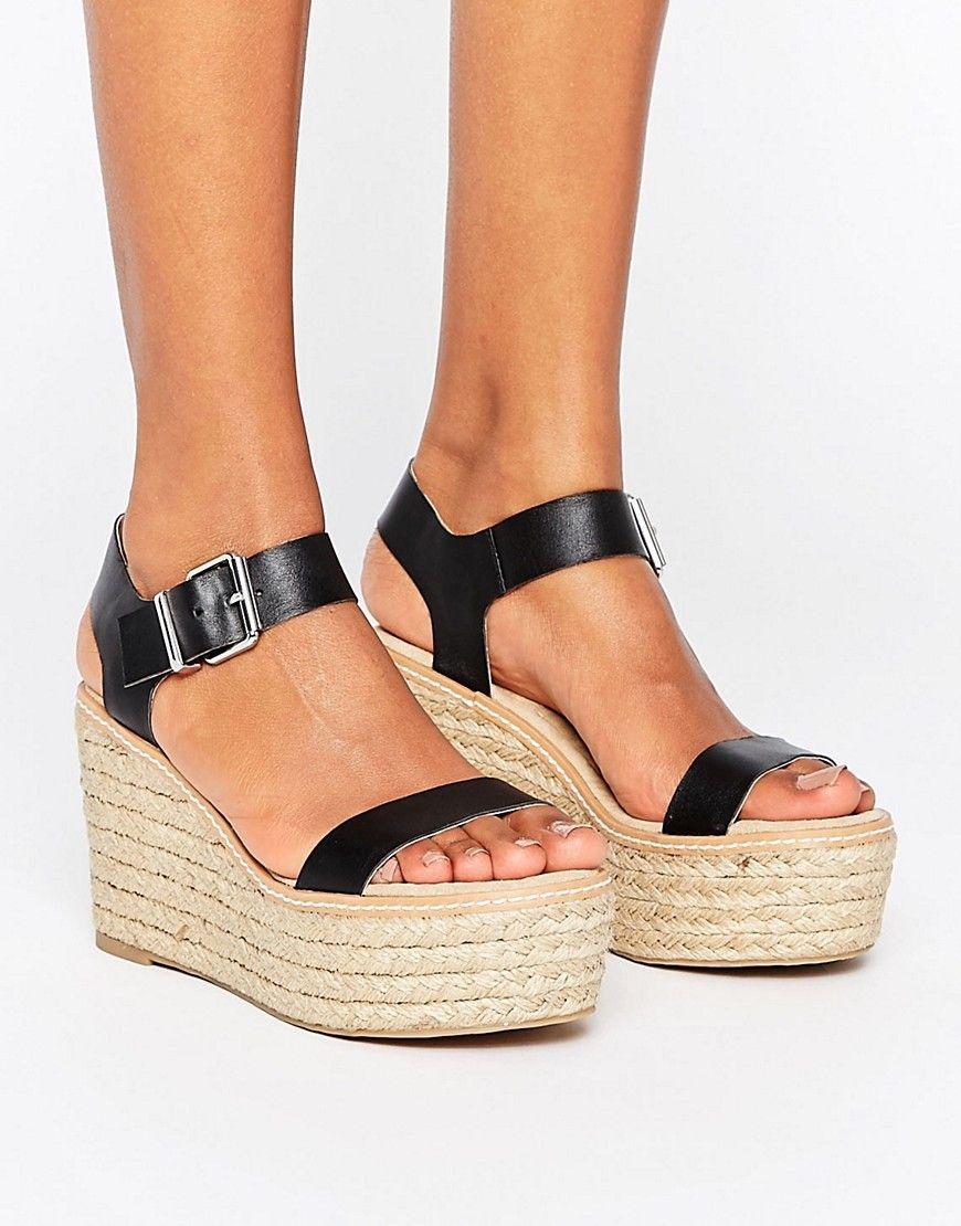 f866e35e325 Steve Madden Halifax Espadrille Wedge Sandals - Black | shoes in ...