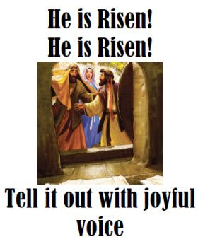 Flipchart For The Hymn He Is Risen Primary Singing Time He Is Risen Singing Time