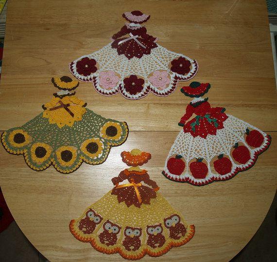 4 crochet tapete chica patrón mucho-buhos, rosas, girasoles y ...
