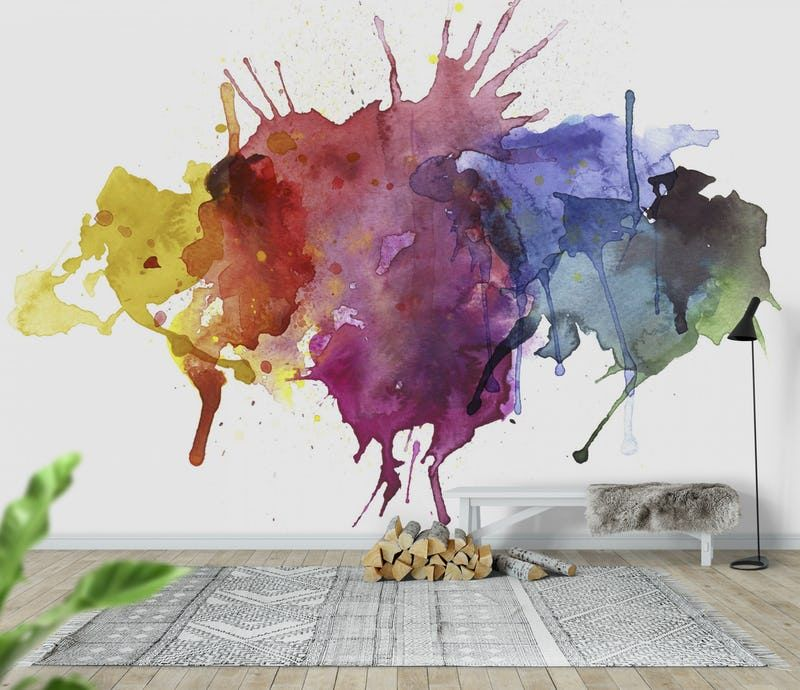 Watercolour Splash Wall Mural Watercolor Splash Png Watercolor