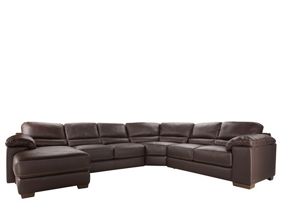 Cindy Crawford Maglie 4 Pc Leather Sectional Sofa Sectional