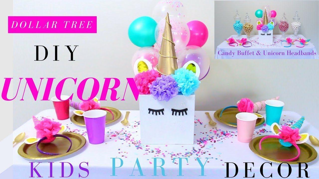 Dollar Tree Diy Unicorn Party Decorations Diy Unicorn