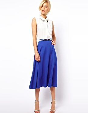 Image 1 of ASOS Midi Skirt in Texture Hour glass and Pears! Show ...