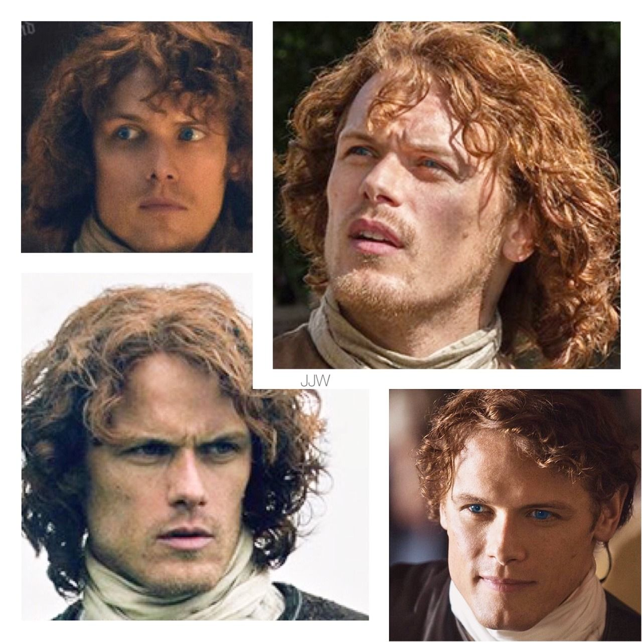 The many faces of #jamiefraser #outlander #samheughan #blueeyes
