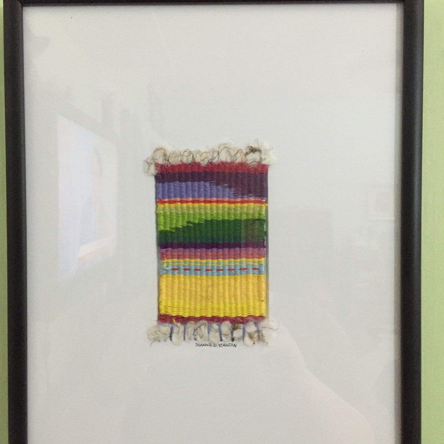 New woven framed art!