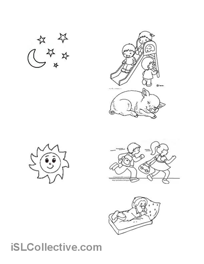 Night and Day worksheet - Free ESL printable worksheets made by ...
