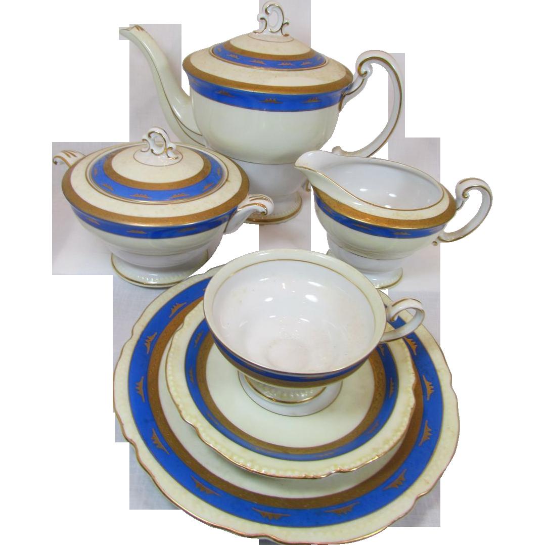 Tea Set, Ohata, Japan Heavily Gilded