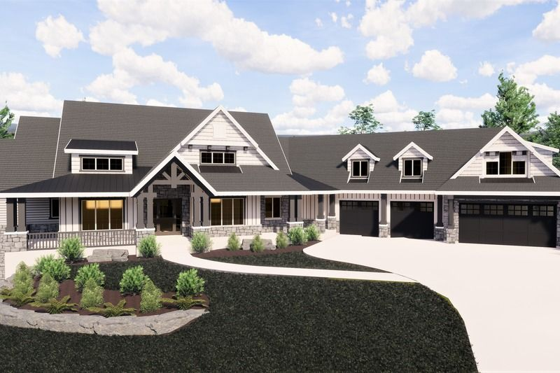 Craftsman Style House Plan – 6 Beds 6 Baths 7798 Sq/Ft Plan #920-98