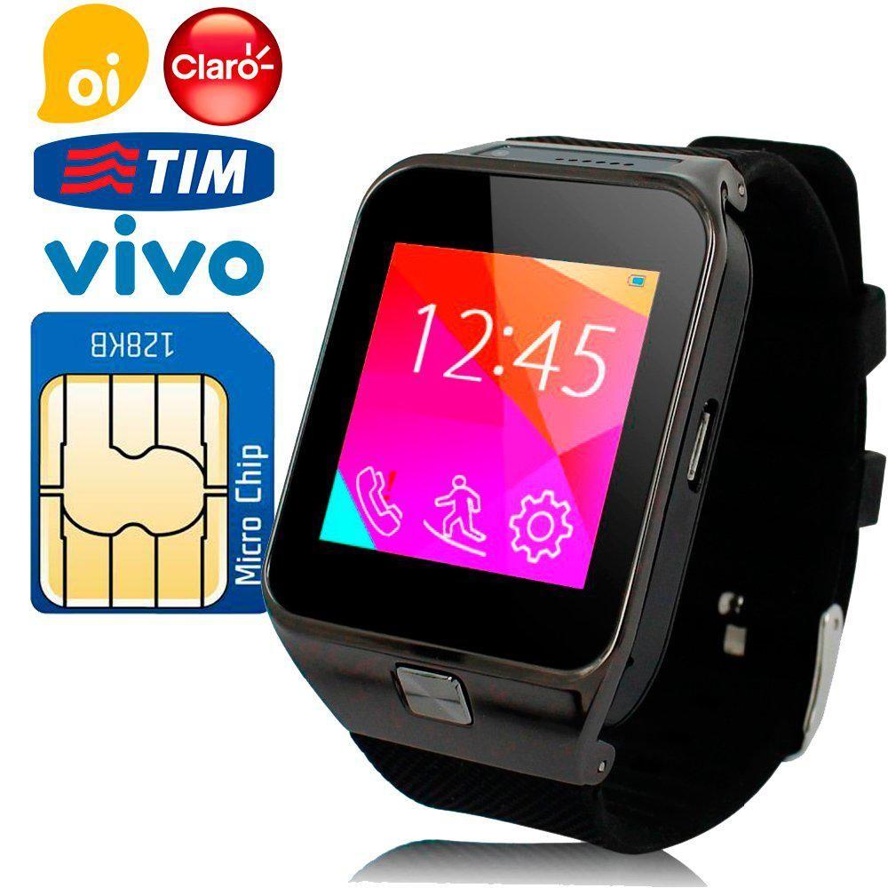 39d4953f356 Relógio Celular smartwatch Bluetooth androide e Iphone