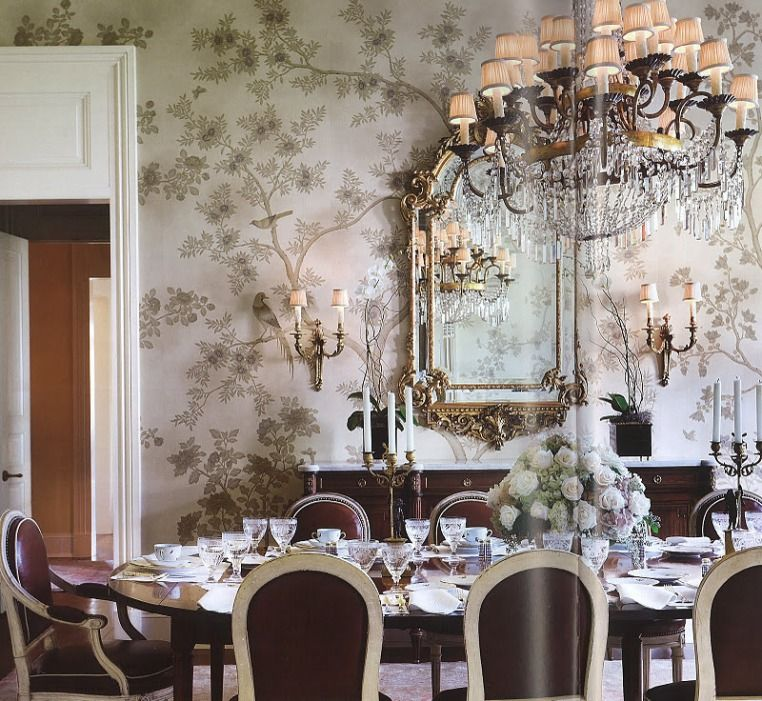 Beautiful Dining Room Wallpaper Decorating Ideas Chinoiserie Ideas ...