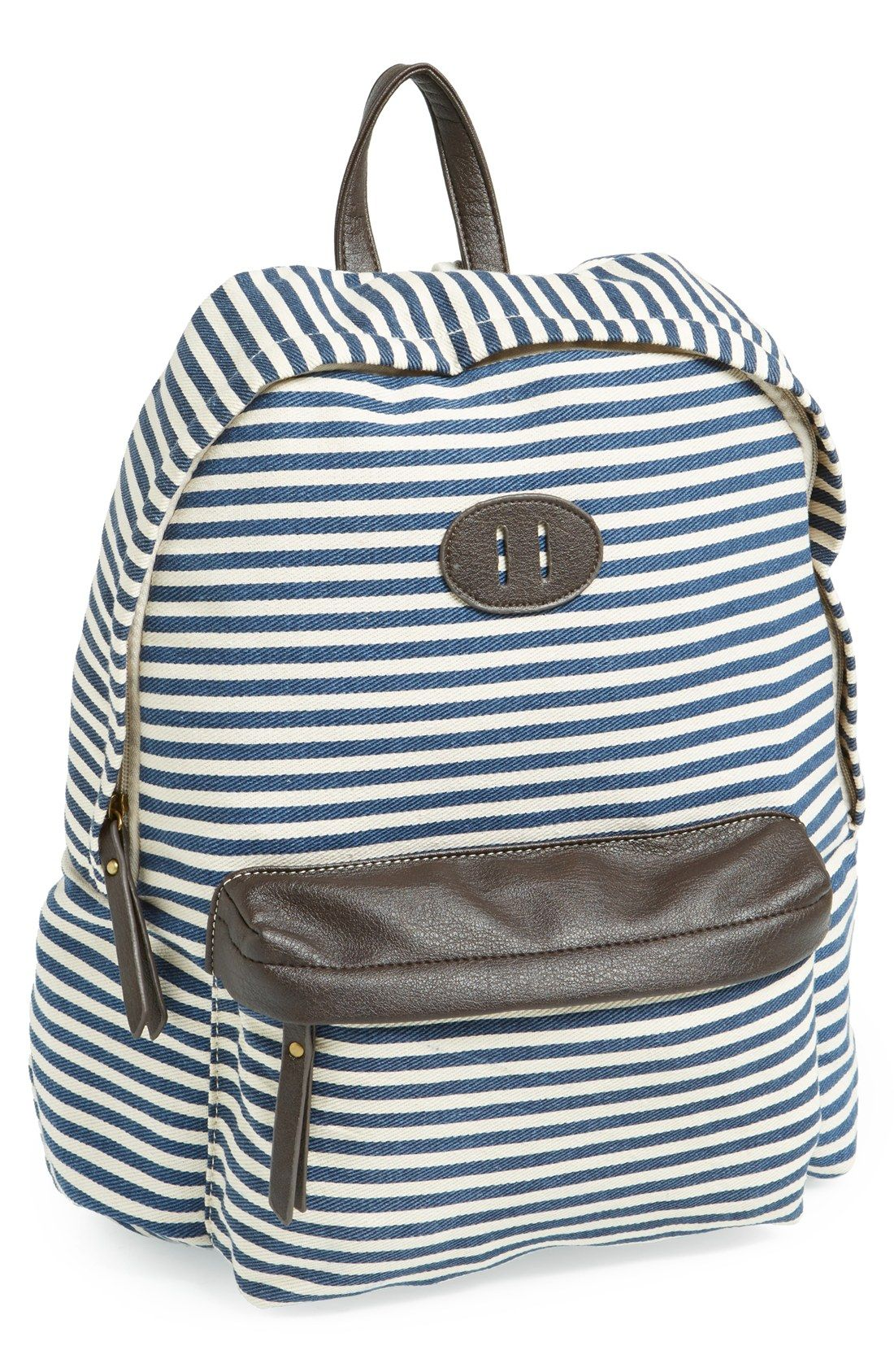 Cute striped backpack for school  7bd3c87c9e517