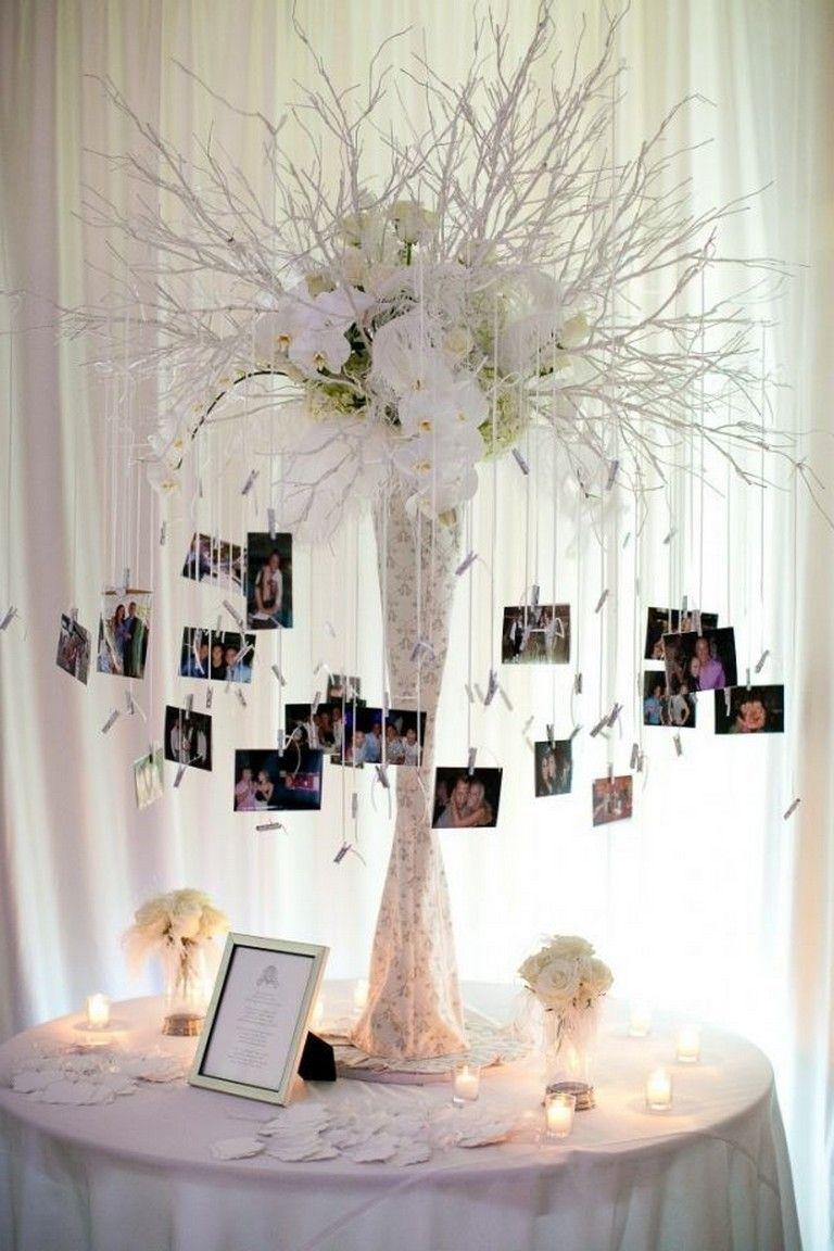 35 Beautiful Wedding Decorations Ideas On A Budget Wedding Weddingdecorations Weddingideas Wedding Photo Display Wedding Decorations Wedding Centerpieces
