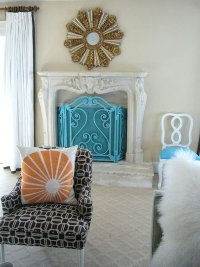 Inspiration adding spring color to your home fireplace screens art decor teraionfo