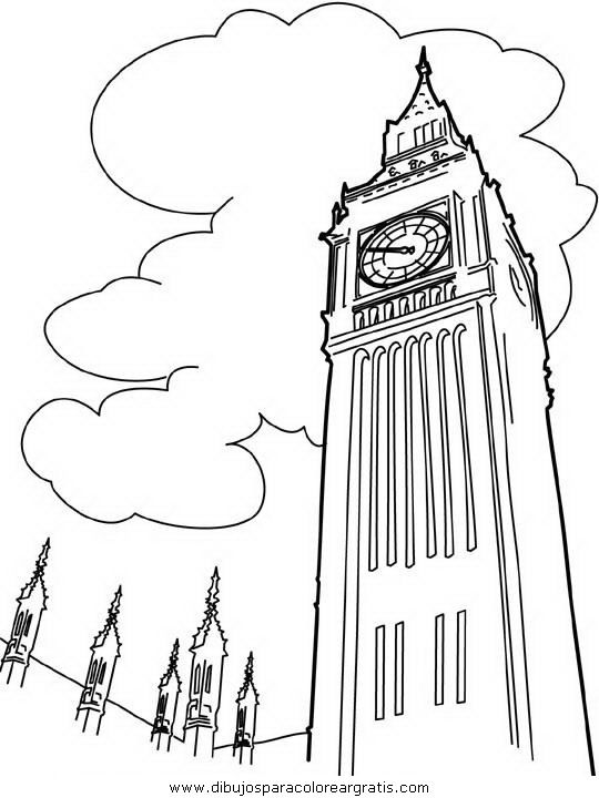 Como Dibujar El Big Ben Imagui Coloring Pages Big Ben Drawing Cool Coloring Pages