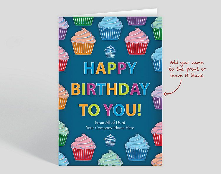 Cupcake Cascade Birthday Card Affiliate Business Christmas Cards Birthday Cards Business Greeting Cards