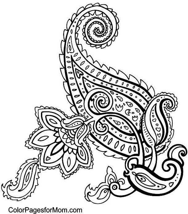 Paisley Pattern Colouring Sheets : Paisley 49 coloring page mandala creativity pinterest