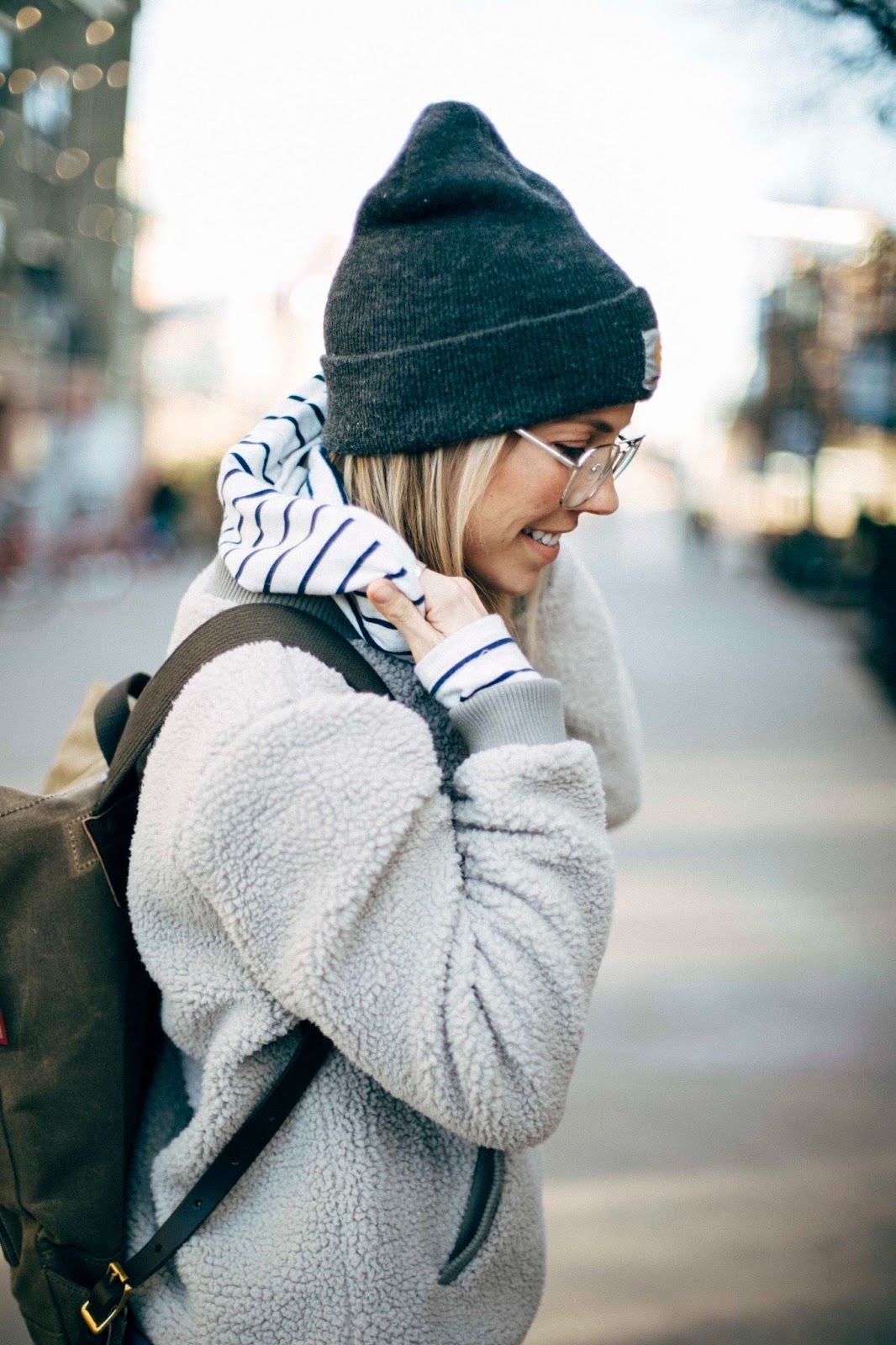 The Collaboration Blog: Casual Street Style #streetstyle #beanie #carhartt #winterfashion  Hat - Carhartt