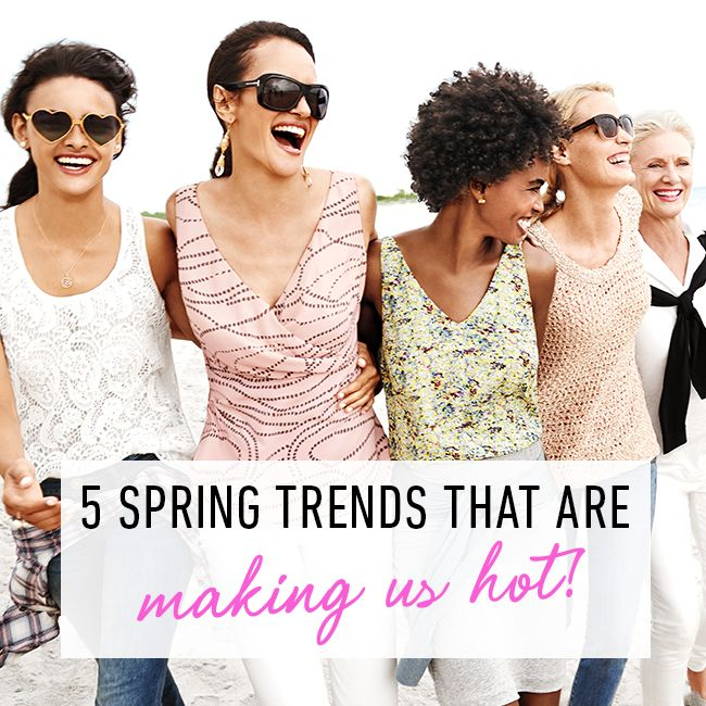 #CAbi - Fashion forecast for Spring 2015 featured on today's blog.  Check the 5 fashion trends to try this season. #CAbiClothing #SpringFashion