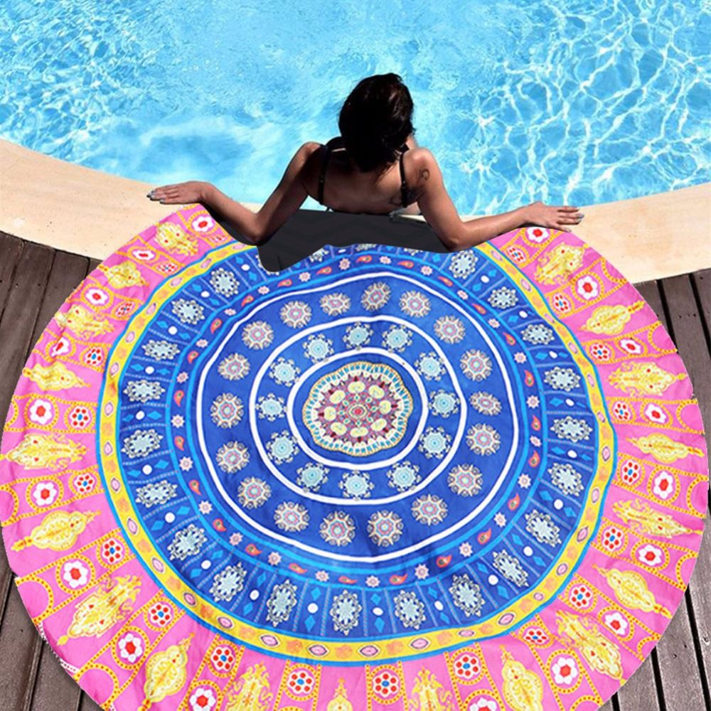 Hot Summer Large Beach Towels Fashion Floral Printed Blanket Yoga ...