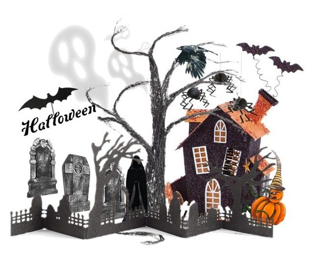 """""""Welcome to my halloween"""" by cocojeansblog on Polyvore featuring interior, interiors, interior design, casa, home decor, interior decorating, Melrose International, Meri Meri, Crate and Barrel e Halloweenparty"""