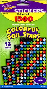 Teacher > Reward Stickers > Foil Stars Super Pack Stickers by Trend: Stickers Galore