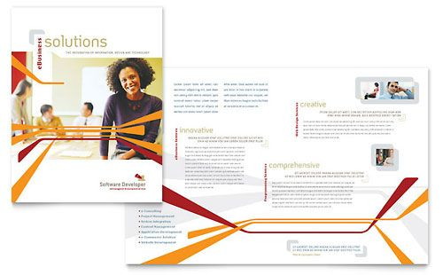 Human Resource Management Brochure Template by StockLayouts - software brochure