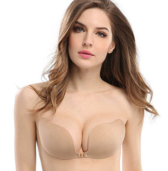 c1852e042c Deceny CB Invisible Bras Self Adhesive Bra Silicone Bra Push up Strapless  Bra at Amazon Women s Clothing store