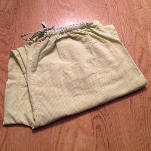 Light lime green/white pj bottoms Super comfy ESPRIT Intimates & Sleepwear Pajamas