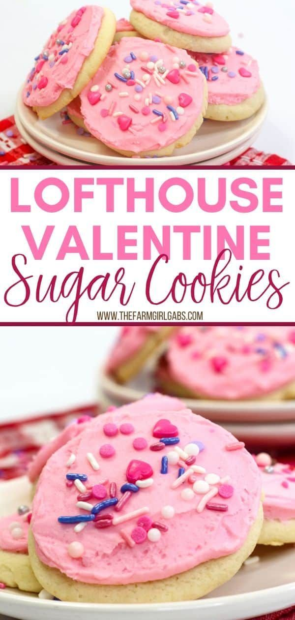 Valentine Lofthouse Sugar Cookies In 2020 Valentines Recipes Desserts Low Carb Pumpkin Cheesecake Sour Cream Cookies