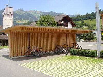 Abri à vélos, Vorarlberg (Suisse)   carport   Pinterest   Refuges ...