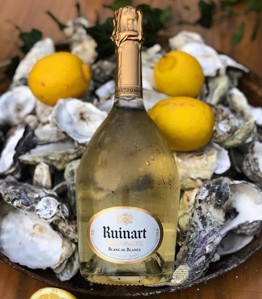 Champagne Moments On Instagram Champagne Ruinart Blanc De Blancs And Oysters By Thechampa Ruinart Blanc De Blancs Boisson Fond Ecran