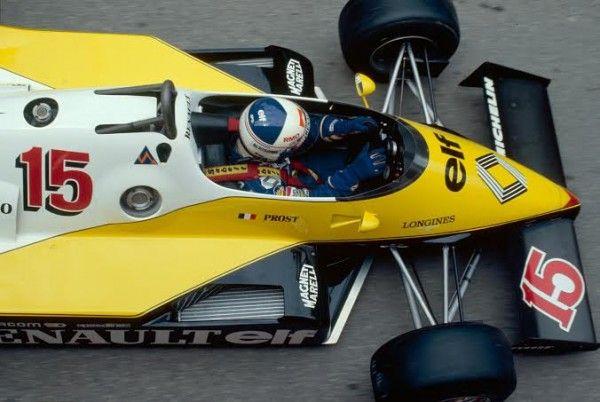 F1 vue de haut de la renault turbo au volant alain prost sport auto ma grande passion - Voiture vue de haut ...