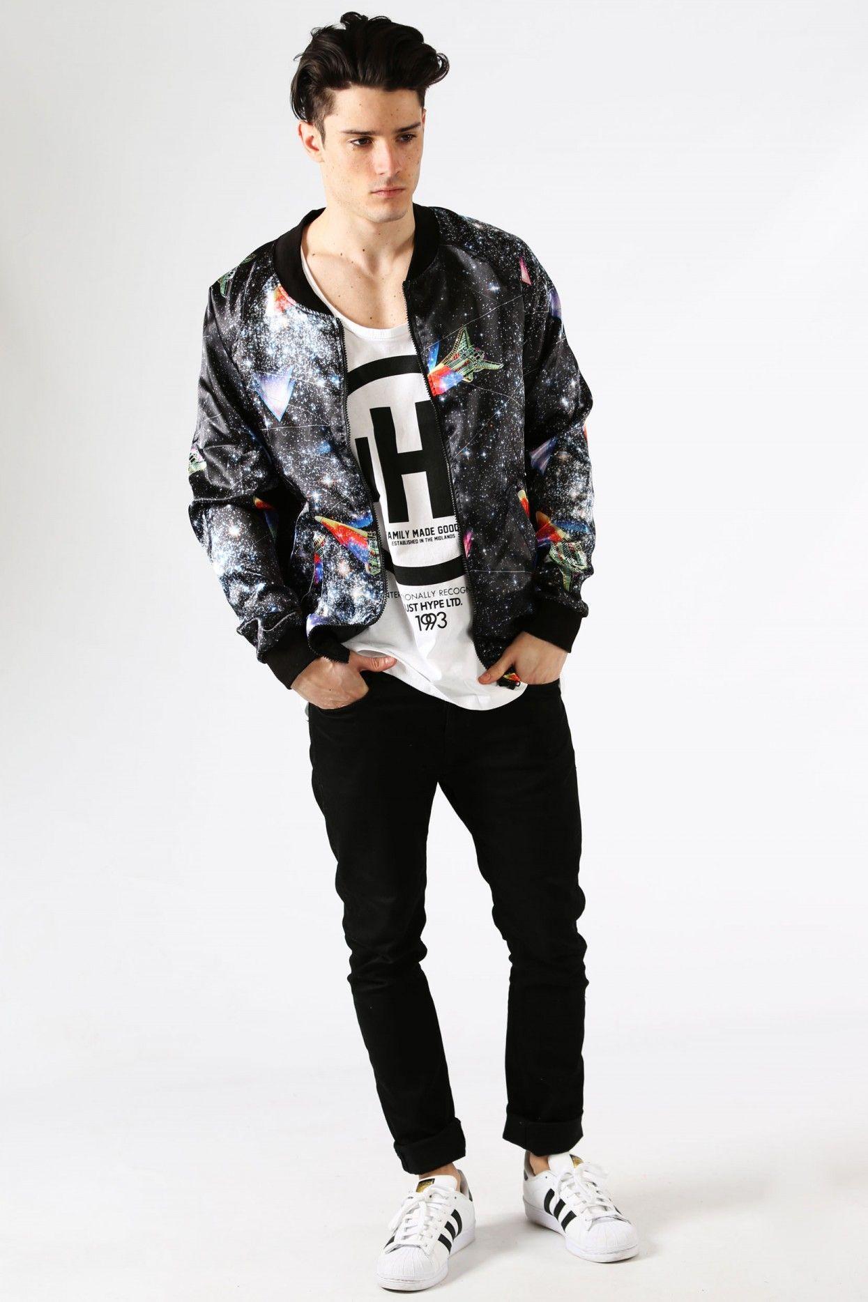 HYPE SPACE ROCKET BOMBER JACKET | Streetwear | Pinterest | Space ...