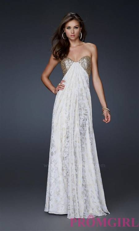 White And Gold Formal Dresses 201617 My Jewelry Shop Fashion