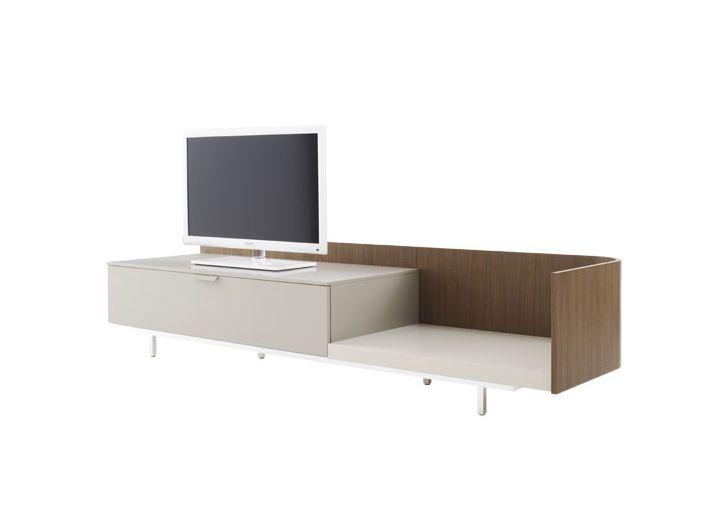 dcouvrez toutes les informations sur le produit meuble de tlvision contemporain en bois laqu en chne en aluminium dino cinna - Meuble Tv Bois Alu