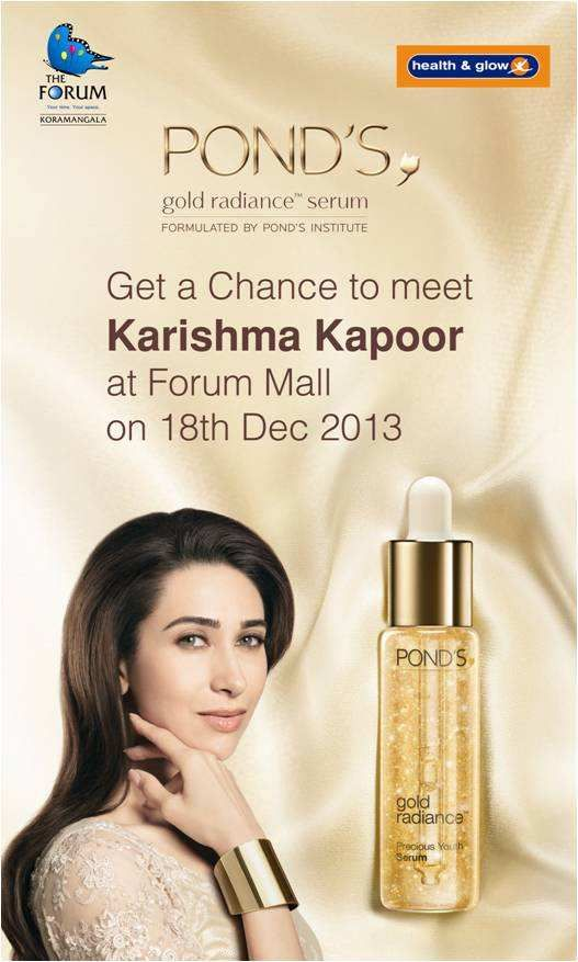 Karishma Kapoor to Amaze Lucky Winners of the Health & Glow Contest | Events in Bangalore / Bengaluru | mallsmarket.com