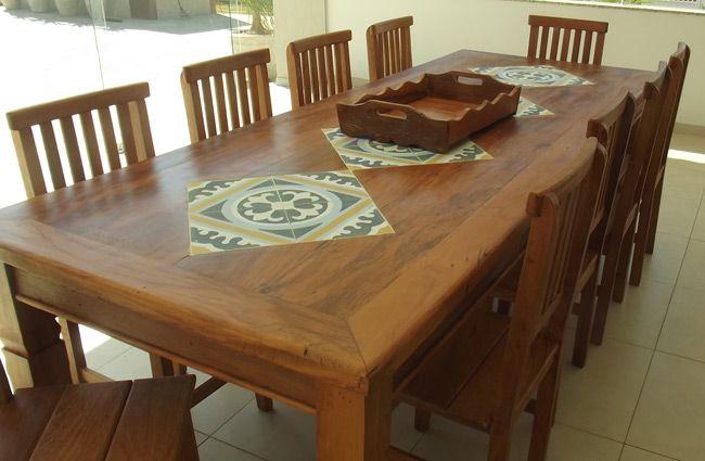 mesas de madeira retangulares  Pesquisa Google  Objetos de desejo  Pint # Cozinha Decorada Com Mesa De Madeira