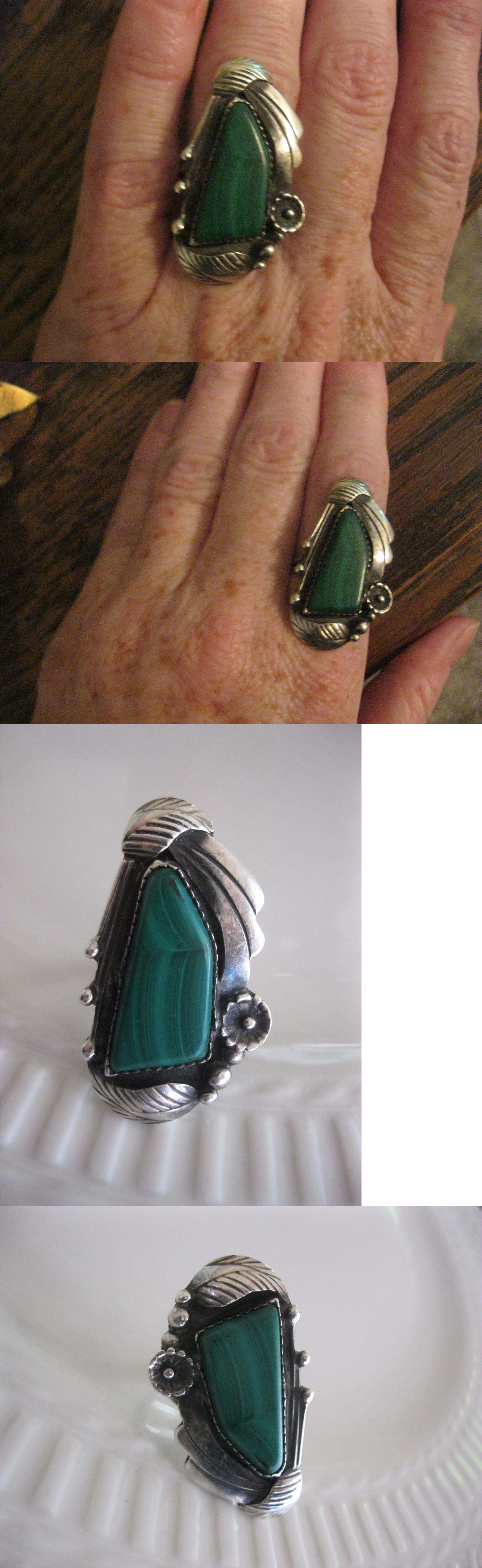 Rings 98500: Vtg Estate Huge Dead Old Pawn Ring Navajo Sterling R. Dawes Squash Blossom Rare -> BUY IT NOW ONLY: $165 on eBay!