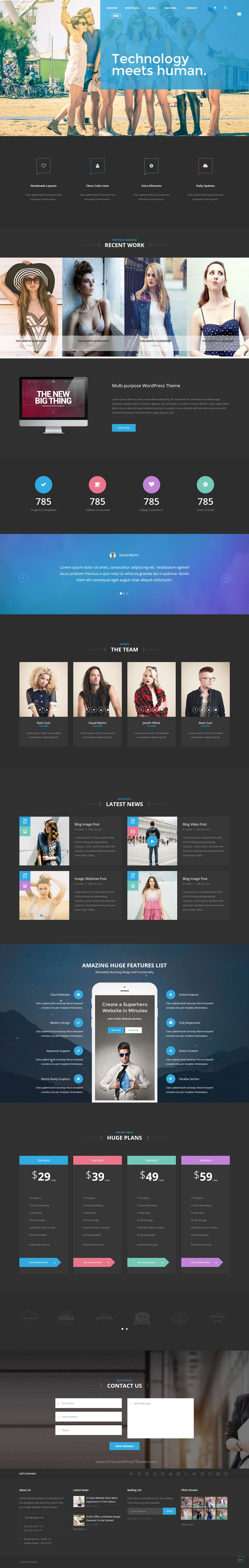 HUGE - Multipurpose HTML Template with Page Builder