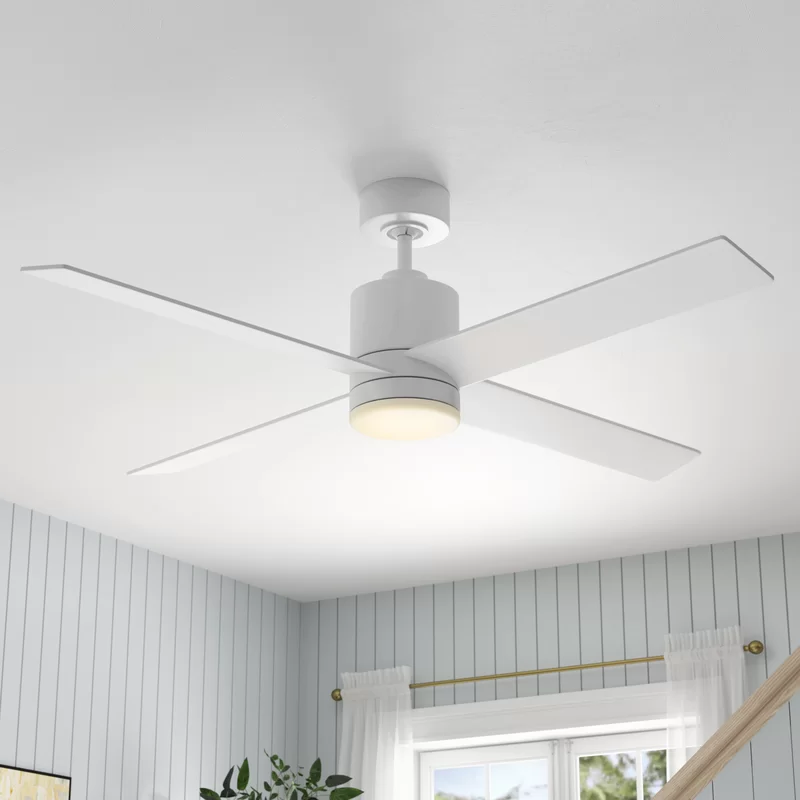 52 Rinke 4 Blade Ceiling Fan With Remote And Light Kit Included Ceiling Fan Bedroom Ceiling Fan Modern Ceiling Fan