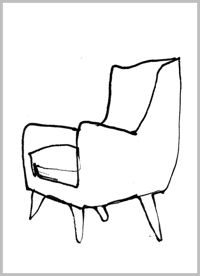 122 Reference Of Chair Drawing Easy In 2020 Chair Drawing Chair Baby Rocking Chair