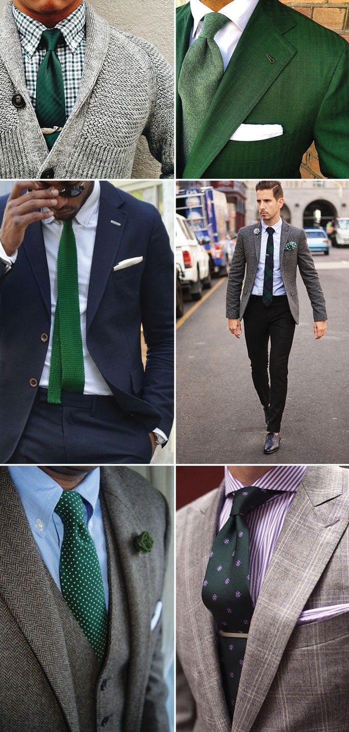 Go Green A Guide To How To Accessorize In Green Collar Stays And