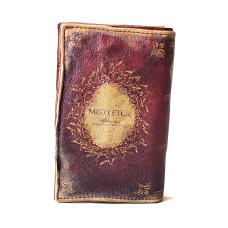 Leather Book Wallet Antiqued [Mistletoe]