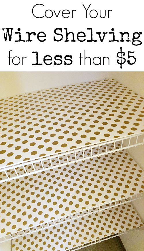 $100 Room Makeover: Wrapping Paper Lined Foam Board Shelves ...
