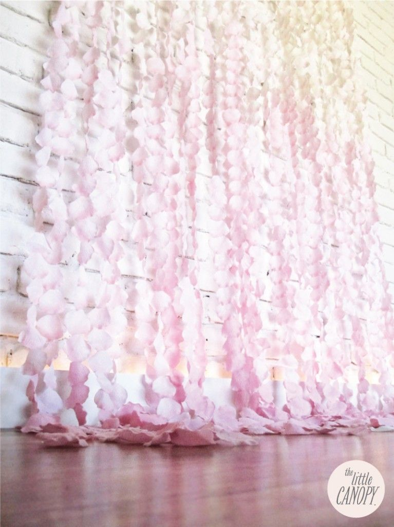Flower Petal Curtain Backdrop Would Be So Pretty Hanging At Our