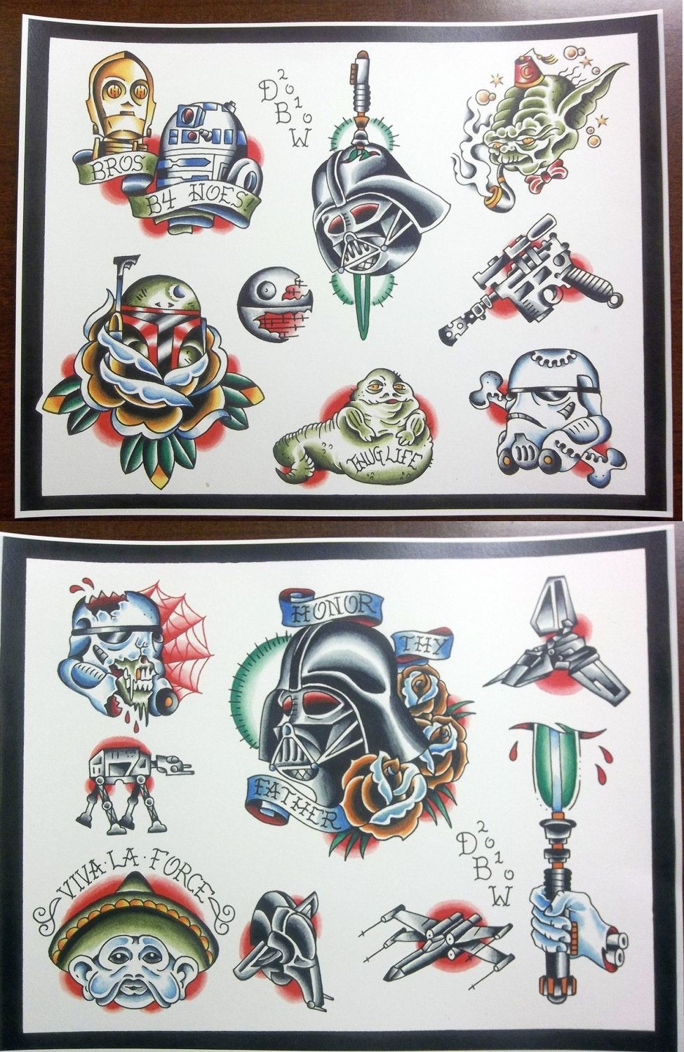 Sw Old School Tats Star Wars Tattoo Star Tattoos Flash