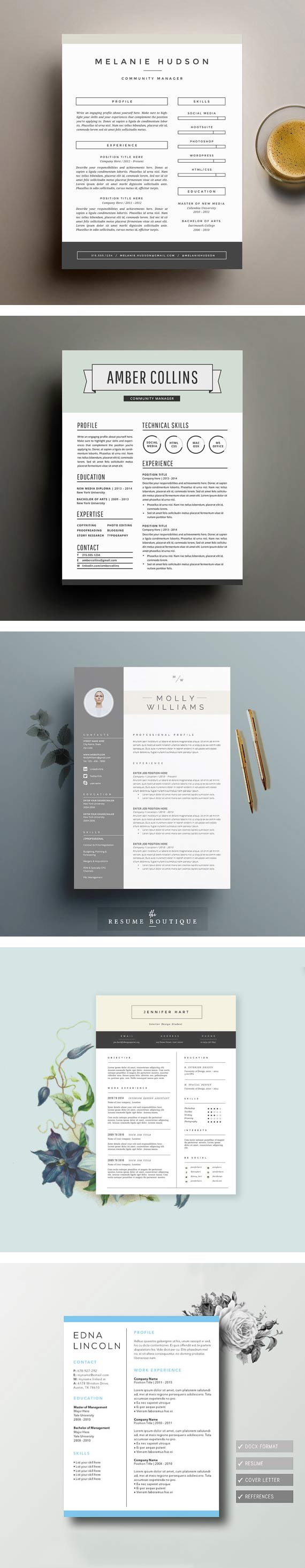 Beautiful Resume Templates You Can Buy On Etsy  Build Your