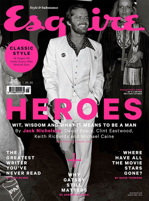 Esquire Heroes Great covers designs Design Editorial Graphic