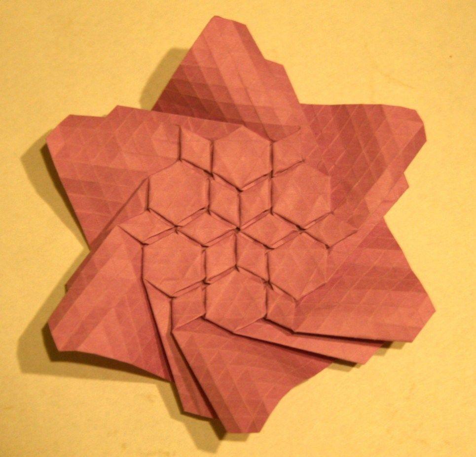 Origami Tessellations Hexagons Folding A Flagstone Tessellation Origamijoel Tessellation Patterns Origami Tutorial Easy Origami
