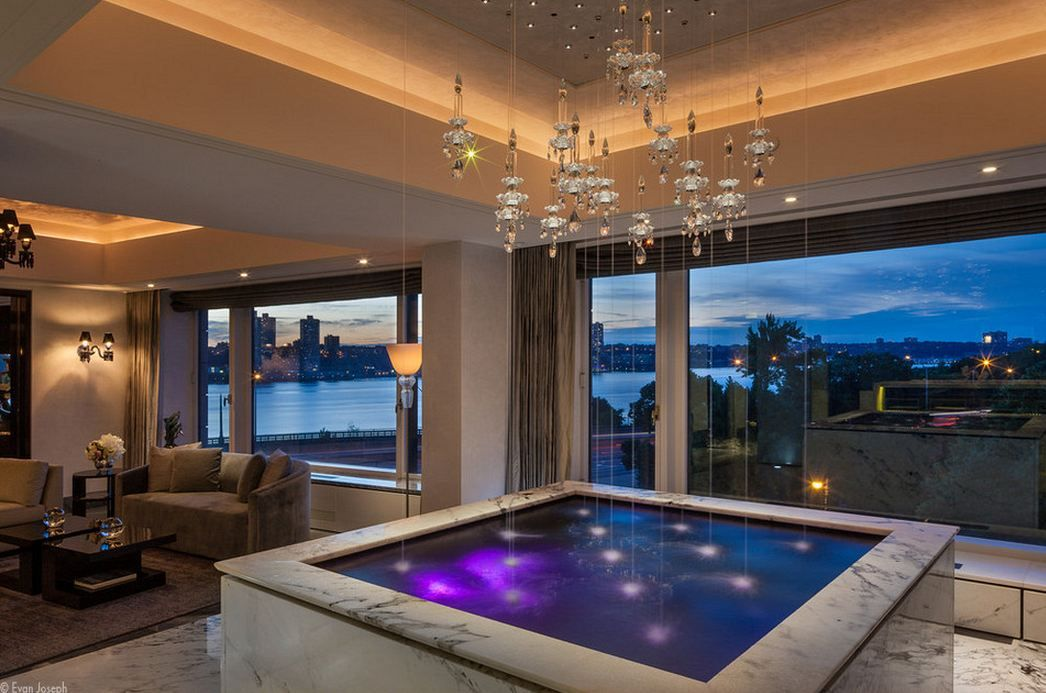 Water Fountain Bar Jacuzzi Architecture Interior Design By Utopus Javier Robles Lighting Design By Lumifer Rich Home Safe Room Relaxation Room
